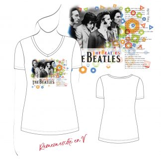 remera de mujer the beatles