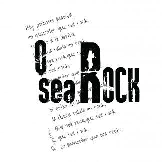 estampa frase que sea rock
